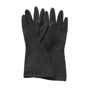 黑色膠手套 中碼