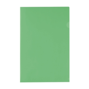 E355 膠文件套 F4 綠色 - 每包12個
