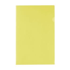 E355 膠文件套 F4 黃色 - 每包12個
