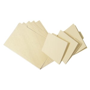 Beige A4 Paper Folder with 1 Tab