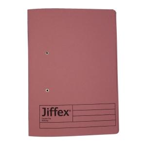 REXEL JIFFEX 紙皮彈簧快勞 F4 粉紅色