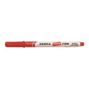 Zebra 斑馬牌 油性記號筆 圓咀 1.0毫米 紅色