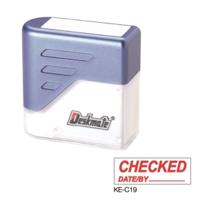 Deskmate KE-C19 [CHECK DATE/BY_____] Stamp
