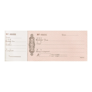 Pre-printed Official Receipt Pad with Number