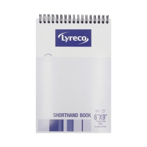Lyreco Shorthand Book 6 inch x 9 inch - 80 Sheets