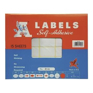 A LABELS 250 白色標籤 25 X 42毫米 每包360個標籤