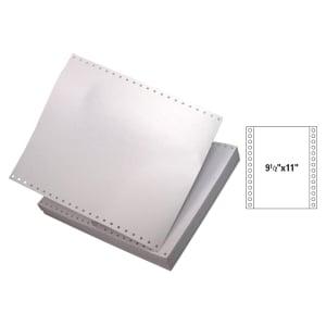 全白電腦紙 9.5吋 x 11吋 1層 - 每盒2000張