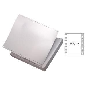 全白電腦紙 9-1/2吋 x 11吋 3層 - 每盒900張