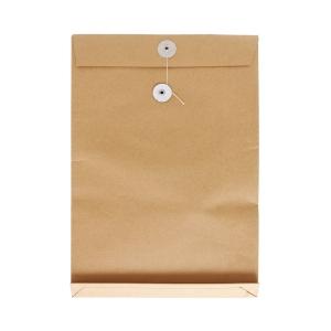 啡色風琴式有繩公文袋 9 吋 x 13 吋 x 1.5吋