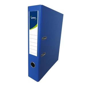 Lyreco PVC Lever Arch File F4 3 inch Blue