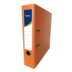 Lyreco PVC Lever Arch File F4 3 inch Orange