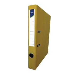 Lyreco PVC Lever Arch File F4 2 inch Yellow