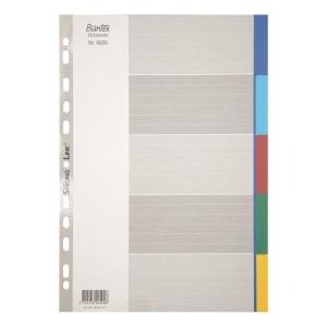 Bantex 辦得事 A4 塑膠顏色索引分類 5層