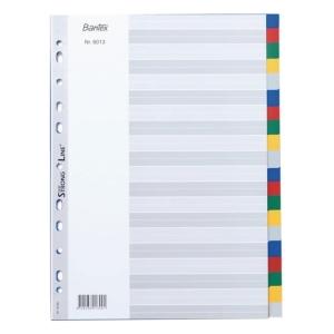 Bantex A4 PP Color Dividers 20 Tabs
