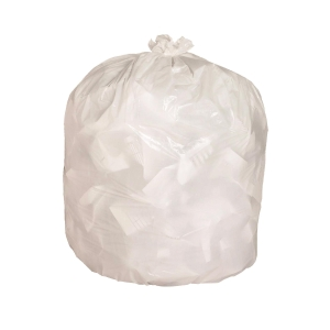 Plastic Litter Bag 24 inch x 24 inch White 10 micron - Pack of 100