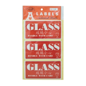 Self-adhesive Label [Glass] - Pack of 30
