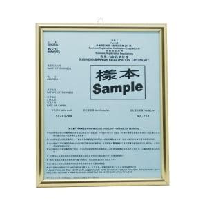 Business Registration Frame Gold