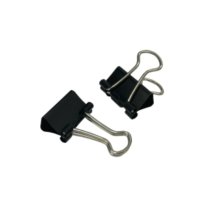 Black Fold Back Clip 0.5 inch - Box of 12