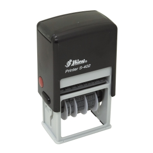 Shiny S-402 RECEIVED Self-Inking Dater Stamp 2-Color