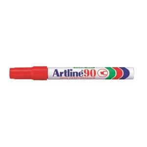 Artline 雅麗 油性箱頭筆 平咀 90 紅色