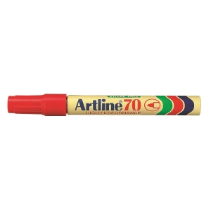 Artline 雅麗 油性箱頭筆 圓咀 70 紅色