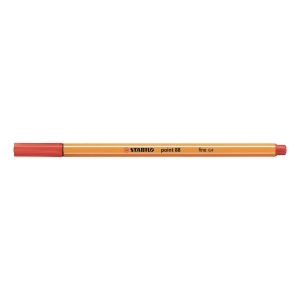 STABILO Point 88 Fineliner Pen 0.4mm Red