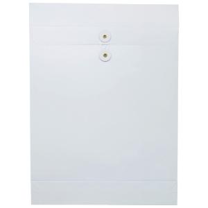 白色風琴式有繩公文袋 12 吋 x 16 吋 x 2吋