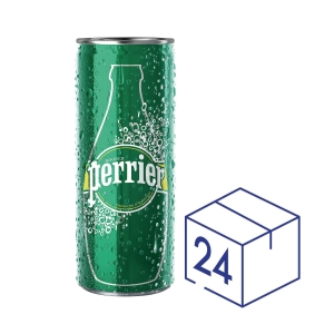 Perrier 法國巴黎有汽礦泉水330毫升 - 24罐裝