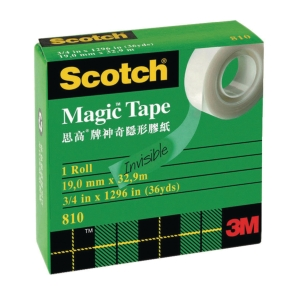 Scotch 810 Magic Tape 0.75 inch x 36yd