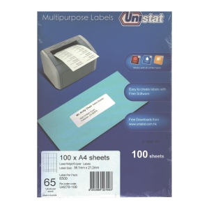 Unistat 多用途標籤 U4270 38.1x21.2毫米 每張65個標籤