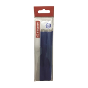 STABILO Ink Refill 0.3mm Blue  - Pack of 10