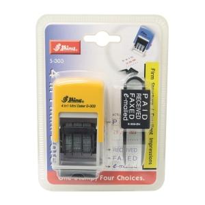 Shiny S-303 4合1 迷你多功能雙色日期膠印 3mm