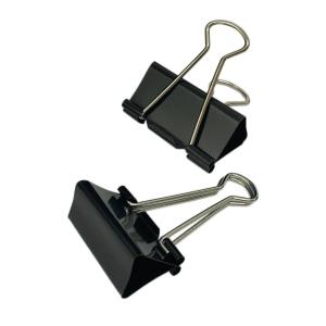 Black Fold Back Clip 1.625 inch - Box of 12