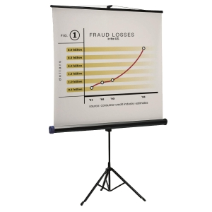 QUARTET 三腳架投影屏幕 150 x 150厘米