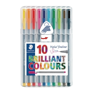 STAEDTLER Triplus Fineliner Assorted Color - Wallet of 10