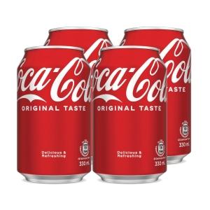 Coca Cola 可口可樂 330毫升 - 4罐裝