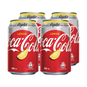 檸檬味健怡可樂330毫升 - 4罐裝