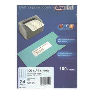 Unistat 多用途標籤 U4464 70 x 37毫米 每張24個標籤