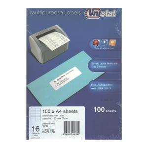 Unistat U4462 Label 105 x 37mm - Box of 1600 Labels