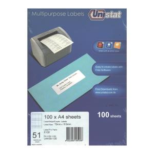 Unistat 多用途標籤 U4459 70x16.9毫米 每張51個標籤