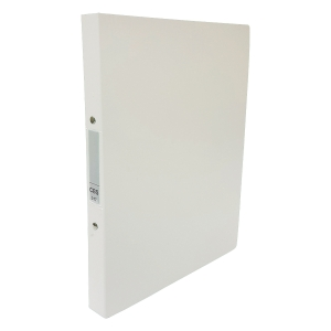 CBS A4 兩孔文件夾 25毫米 白色