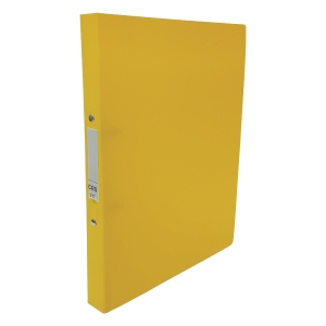CBS A4 2-Ring Binder 25mm Yellow