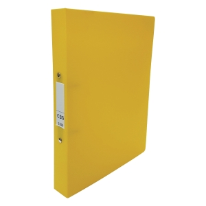 CBS A4 兩孔文件夾 36毫米 黃色