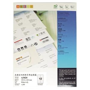 MNEOS 多用途標籤 A0256 105 x 48毫米 每張12個標籤