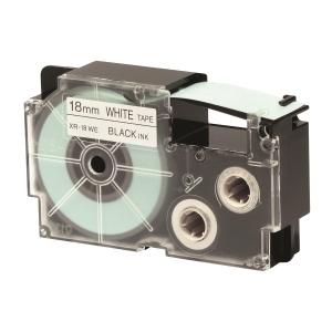 CASIO 卡西歐 顏色標籤帶 XR-18WE1 18毫米 x 8米 黑色字白色底