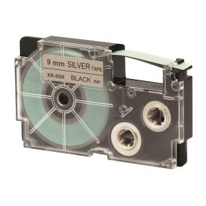 CASIO XR-9SR1 Tape 9mm x 8m Black on Silver