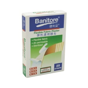 Banitore Fabric Plaster (flexible) - Box of 25