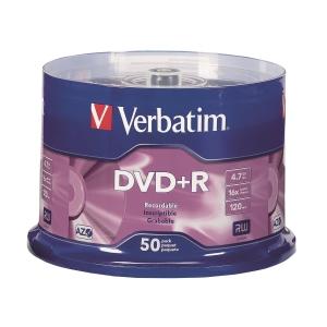 Verbatim DVD+R 4.7GB - Spindle Pack of 50