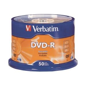 Verbatim DVD-R 4.7GB - Spindle Pack of 50