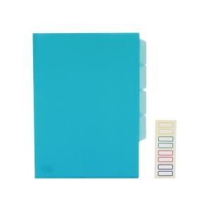 E356 三格膠文件套 A4 藍色